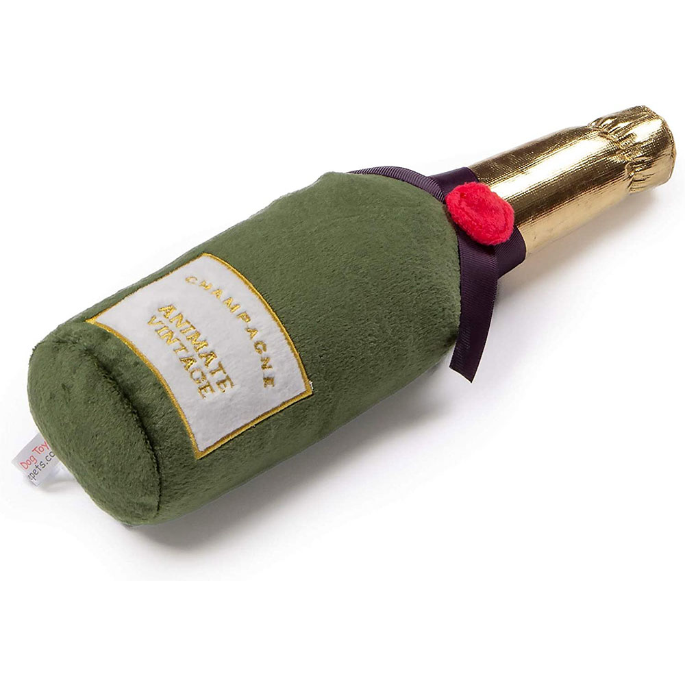 Animate Champagne Bottle Dog Toy