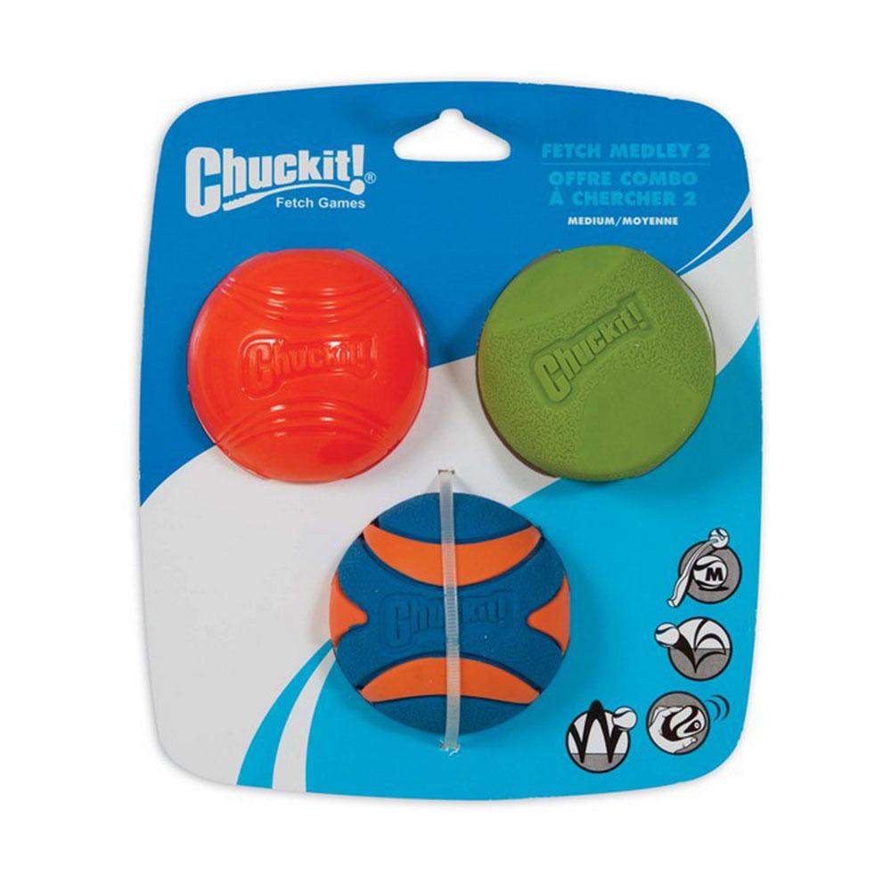 Chuckit! Fetch Medley Med  3 Pk 6.5cm