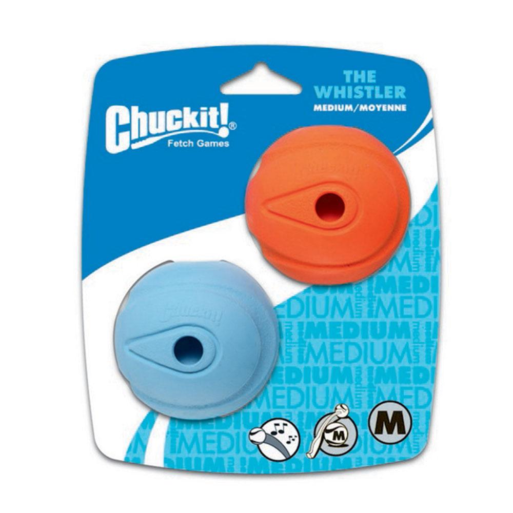 Chuckit Whistler Ball 2 Pack Medium