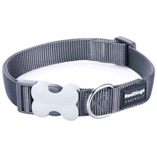 Red Dingo Collar Classic Grey