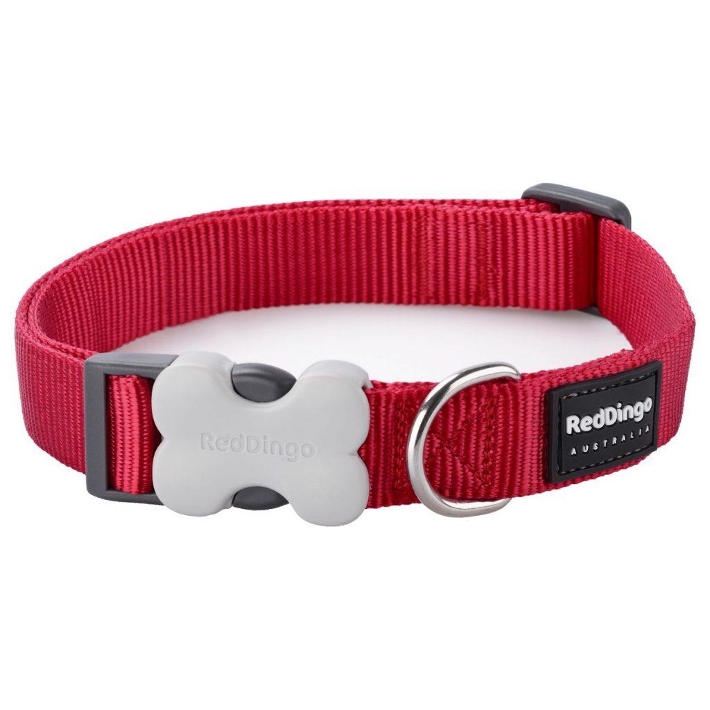 Red Dingo Collar Plain Classic Red