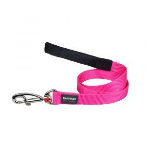 Red-Dingo-Lead-Plain-Classic-Hot-Pink