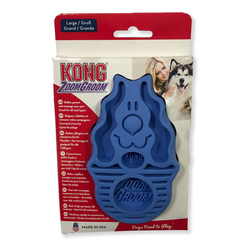 Kong Zoom Groom Pet Brush Boysenberry
