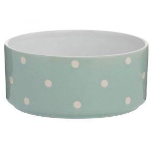 Mason-Cash-Polka-Dot-Sage-Green-Dog-Bowl