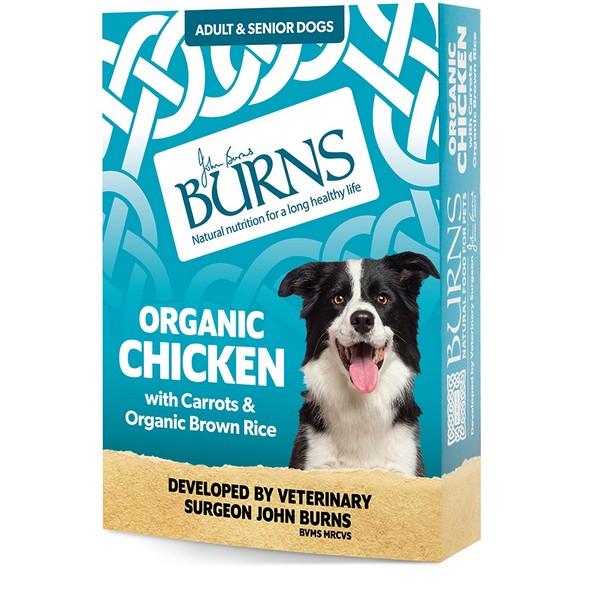 Burns Organic Chicken Wet Dog Food 395g