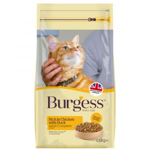 Burgess Chicken and Duck Dry Cat Food 1.5kg