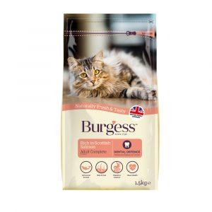 Burgess Scottish Salmon Dry Cat Food 1.5kg